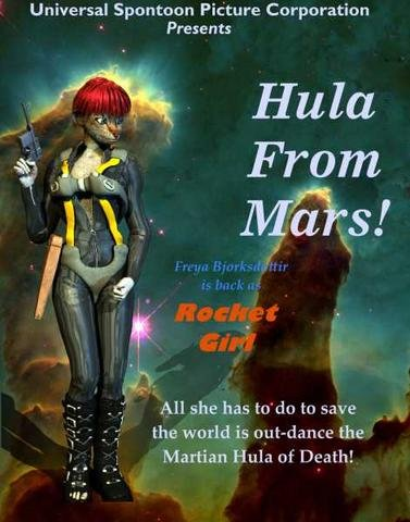 Hula from Mars! movie poster by Antonia T. Tiger