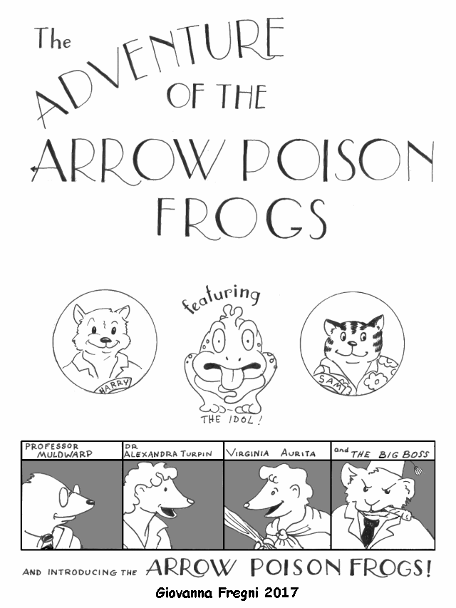 """The Adventure of the Arrow Poison Frogs"" cover small - by Giovanna Fregni"